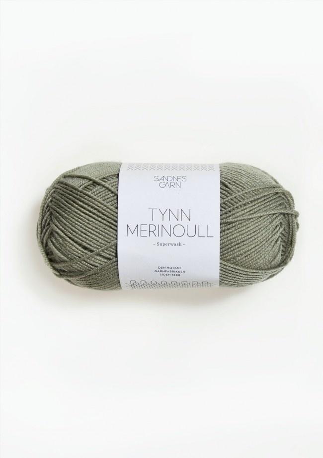Sandnes Tynn Merino Ull - Nr. 8521 - støvet lys grønn