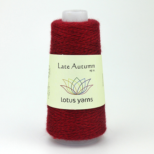 Lotus Yarns Late  Autumn - Nr. 06 - donkerrood