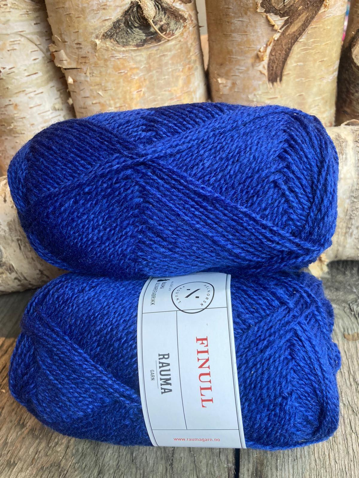 Rauma Finull melert - 443 - Mørk jeansblå