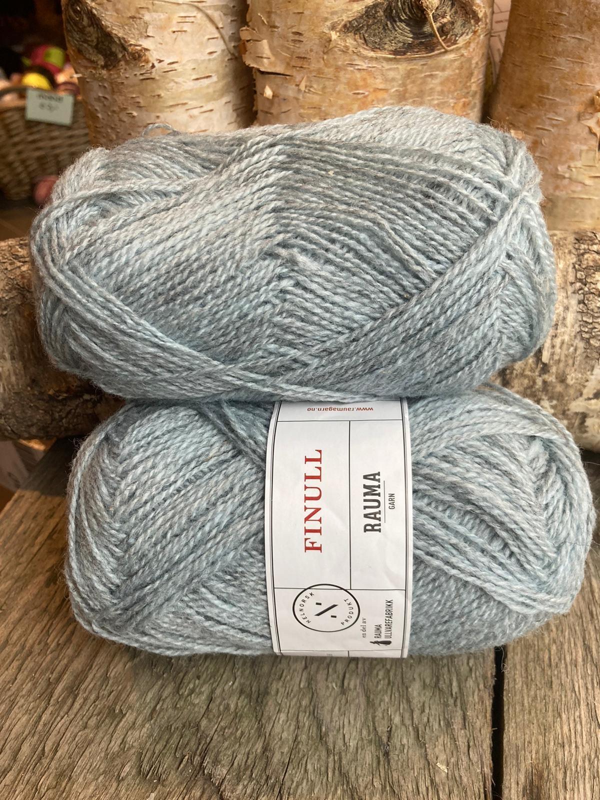 Rauma Finull melert - 4139 - Lys Blå Lysmelert