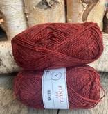 Rauma Finull melert - 4131 - Dempet Rød Mørkmelert