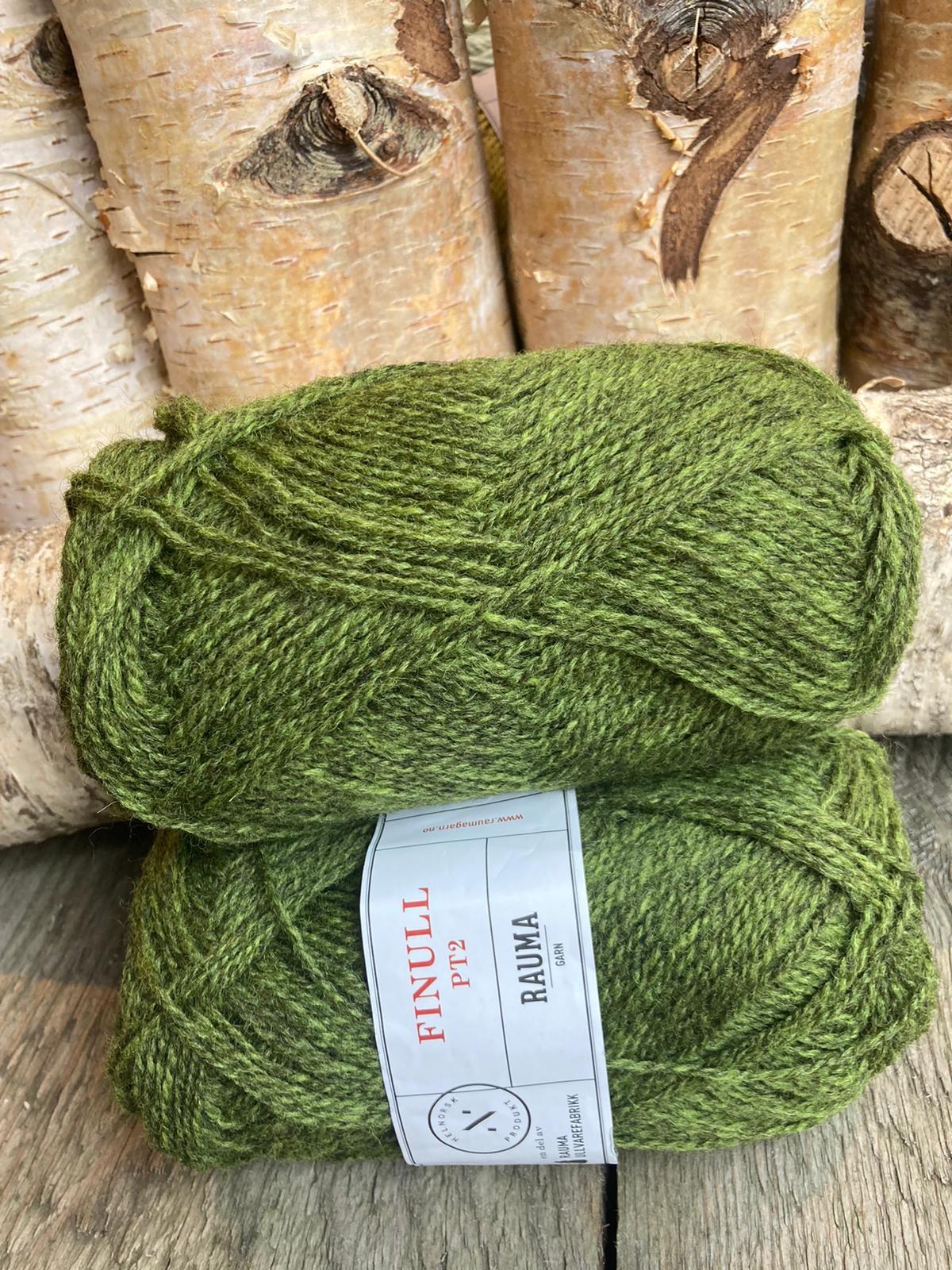 Rauma Finull melert - 4130 - Grønn Mørkmelert