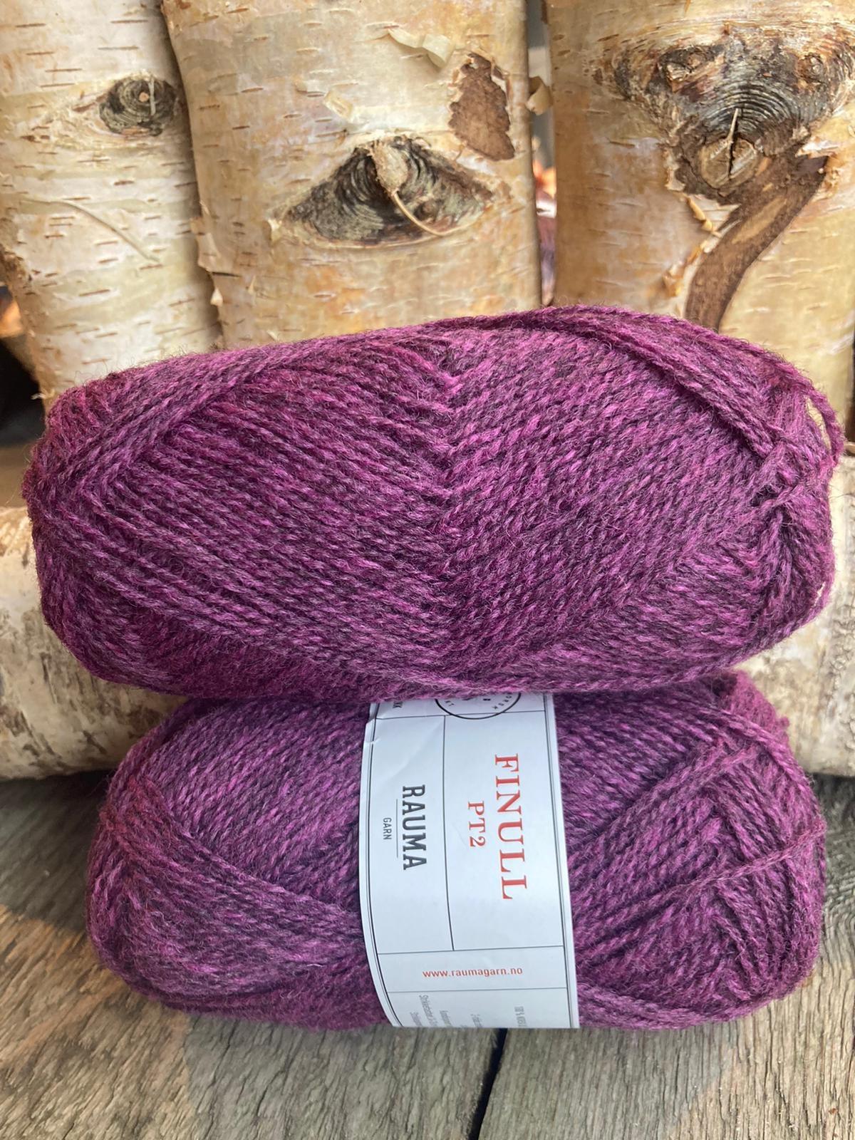 Rauma Finull melert - 4126 - mork lyng melert