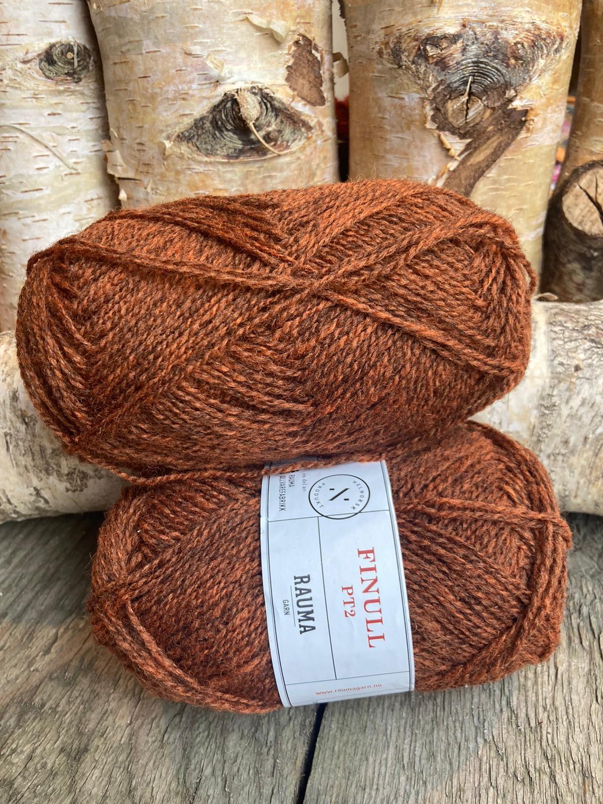 Rauma Finull melert - 4121 -  Mørk Oransje Mørkmelert