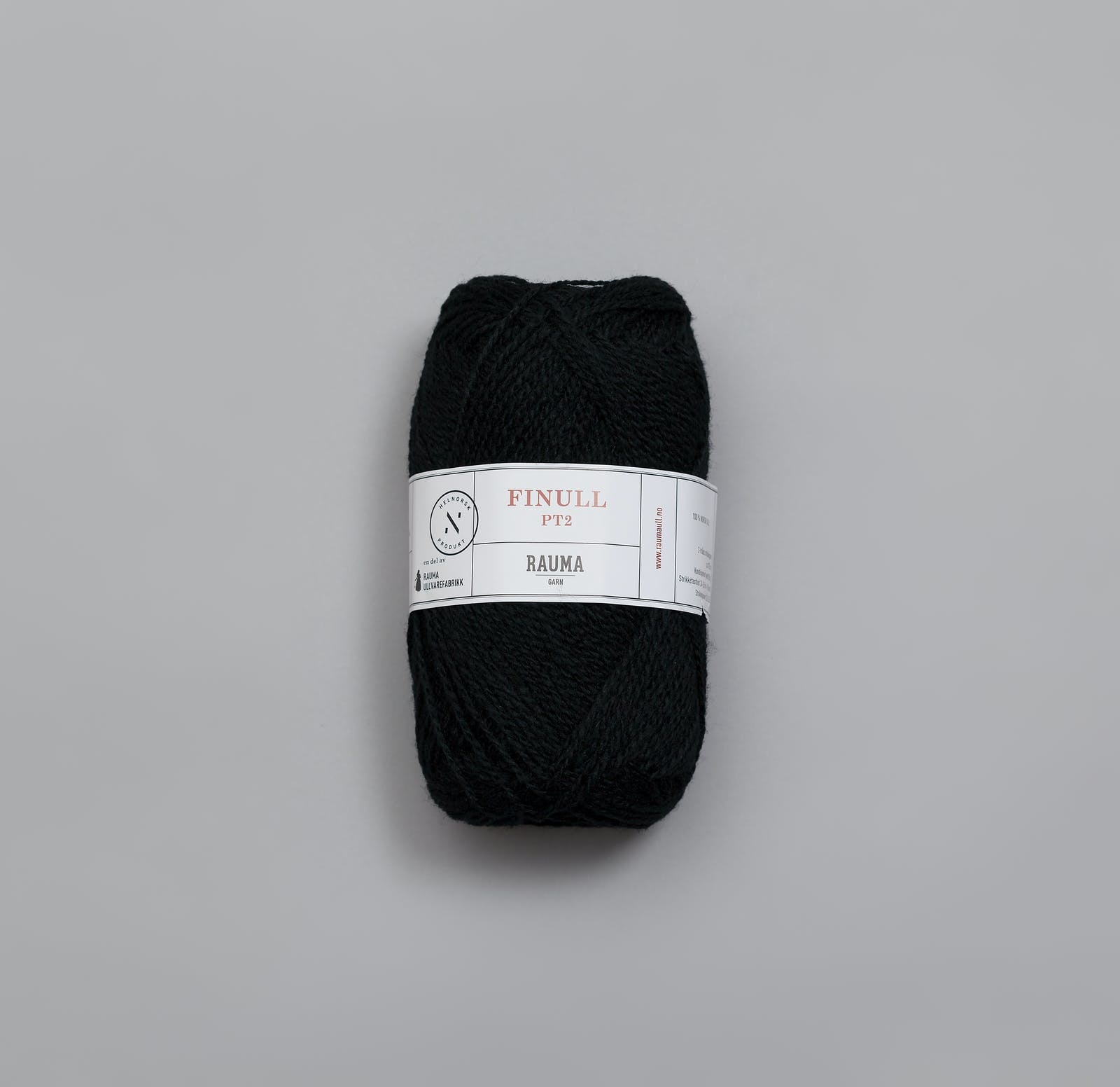 Rauma Finull melert - 436 - svart