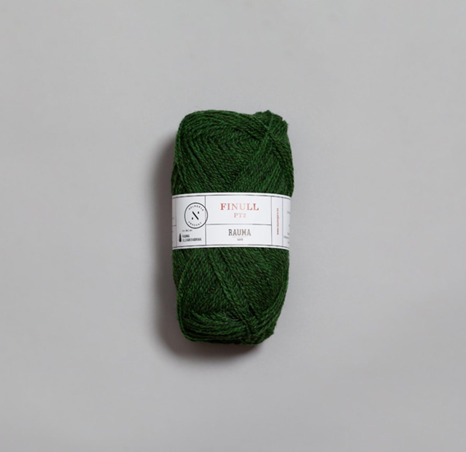 Rauma Finull melert - 4122 - Mørk Grønn Mørkmelert