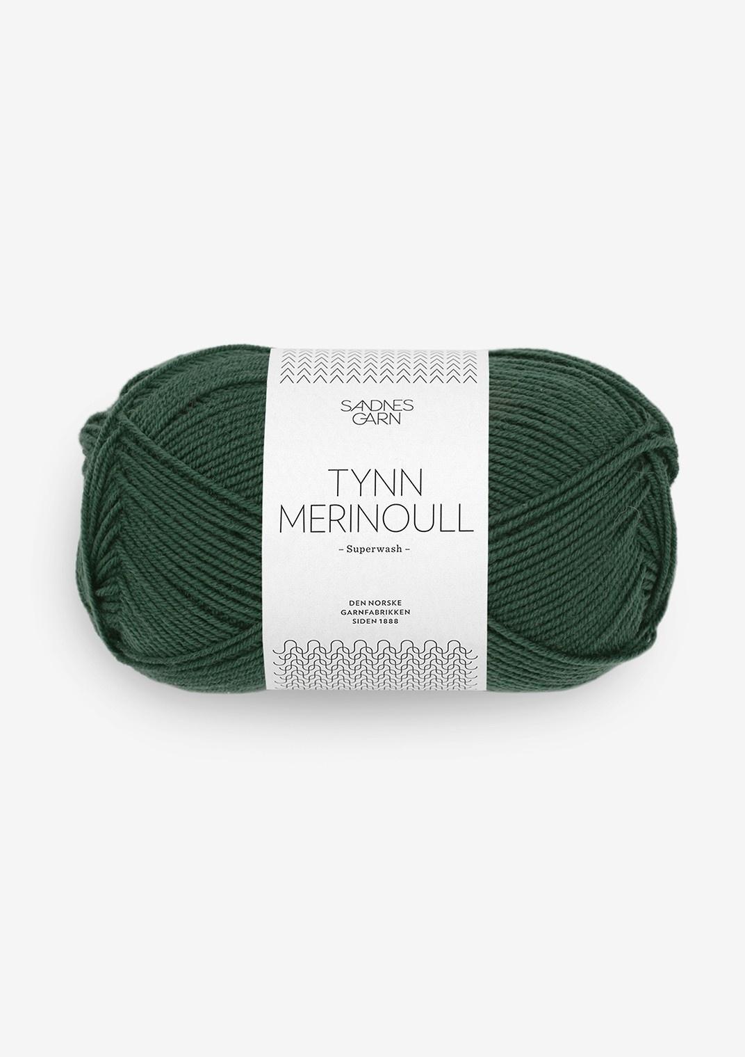 Sandnes Tynn Merino Ull - Nr. 8581 - Dyp skoggrønn