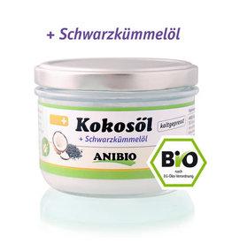 Anibio Anibio Kokosolie met Zwarte komijnzaad olie 400ml (Bio)