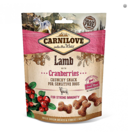 Carnilove Carnilove Crunchy Snack Lamb with Cranberries 200 gram