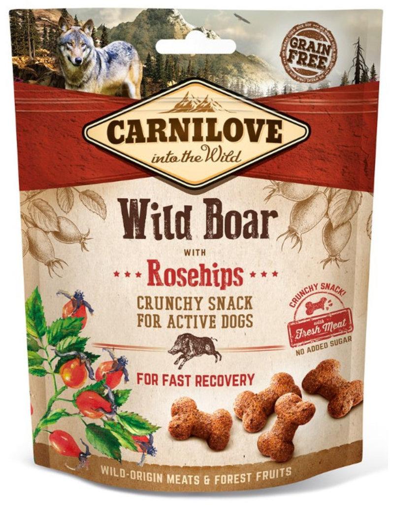 Carnilove Carnilove Crunchy Snack Wildzwijn met Rozenbottels 200 gram