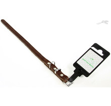 Halsband Vetleer Bruin 16mm x 40cm