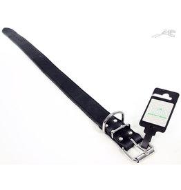 Tijssen Halsband Vetleer Zwart 35mm x 60cm