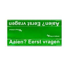 Grote groene waarschuwingssleeve