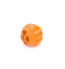 Beeztees Rubber Snackbal Biski, Oranje 7,5 cm