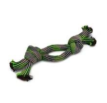 Textiele touwspeeltje Doplo, Grijs/Groen, 50 cm