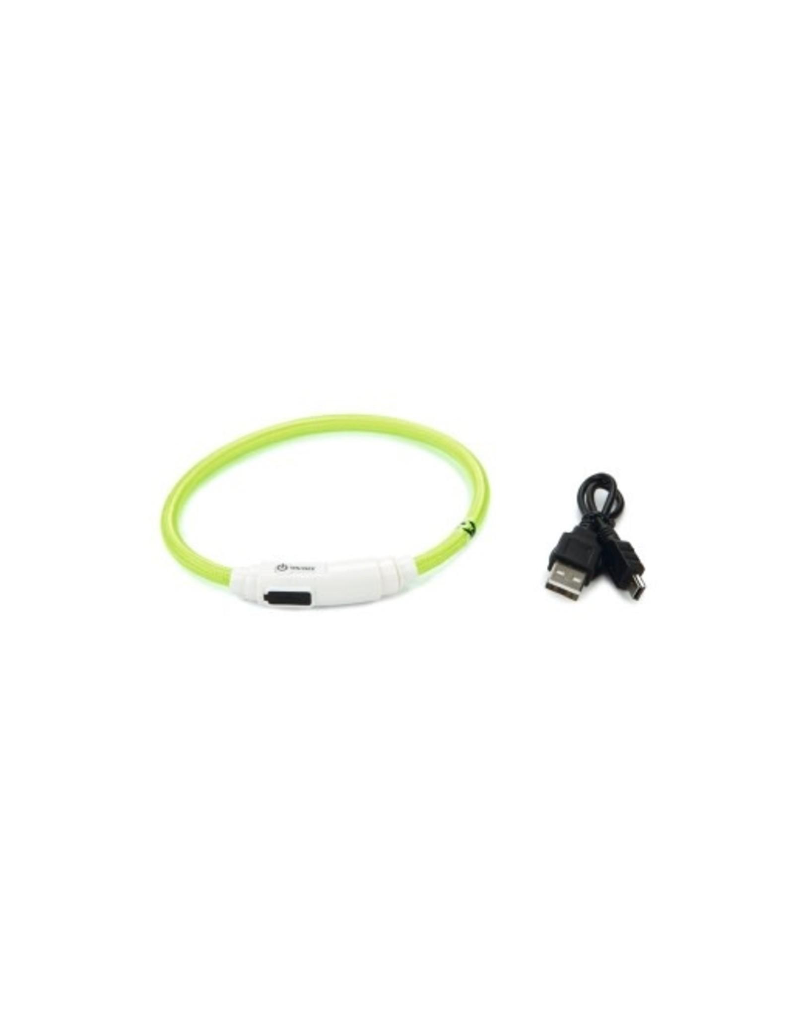 Beeztees Beeztees Safety Gear Flashix Kattenhalsband Groen 35 cm