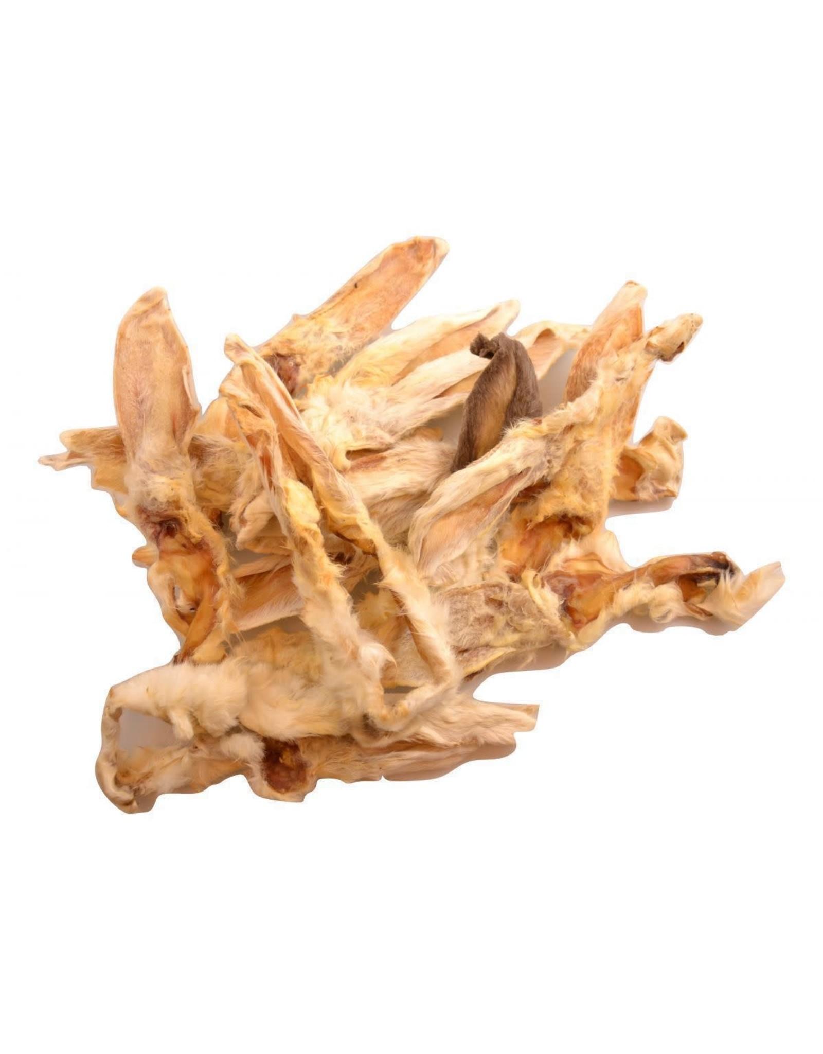 Carnis Konijnenoren gedroogd met vacht (500gr)