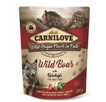 Carnilove Paté (pouch) Wild Boar with Rosehips 300g