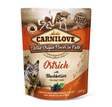 Carnilove Paté (pouch) Ostrich  with Blackberries  300g