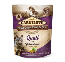 Carnilove Paté (pouch) Quail  with Yellow Carrot 300g