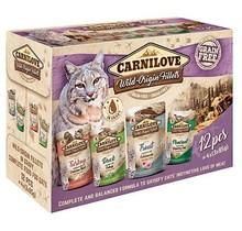 Cat Pouches 12 Stuks (4X3X85Gram) Turkeyduck/Trout/Pheasant Multipack