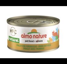 Almo Nature Kat HFC Natural Kip met Kaas 70 gr