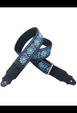 RightOn!  Woodstock Blue Guitar strap