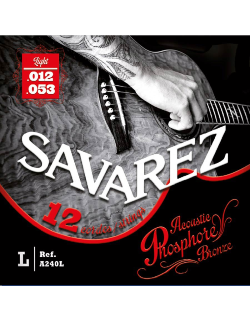 Savarez A240L 12-string Light acoustic guitar strings 012-053