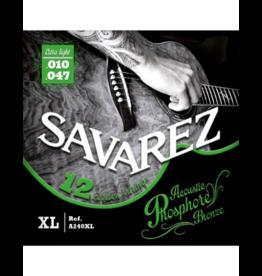 Savarez 12-string acoustic guitar strings 010-047