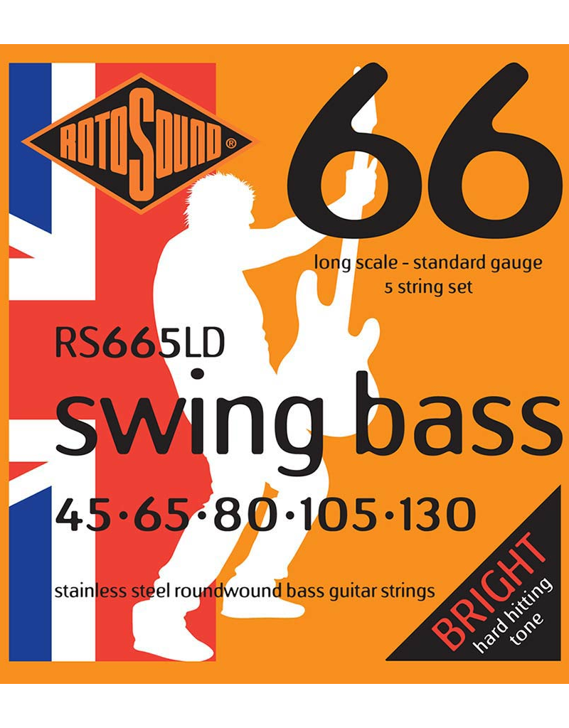 Rotosound RS665LD Standard 5 - snarig basgitaar snaren