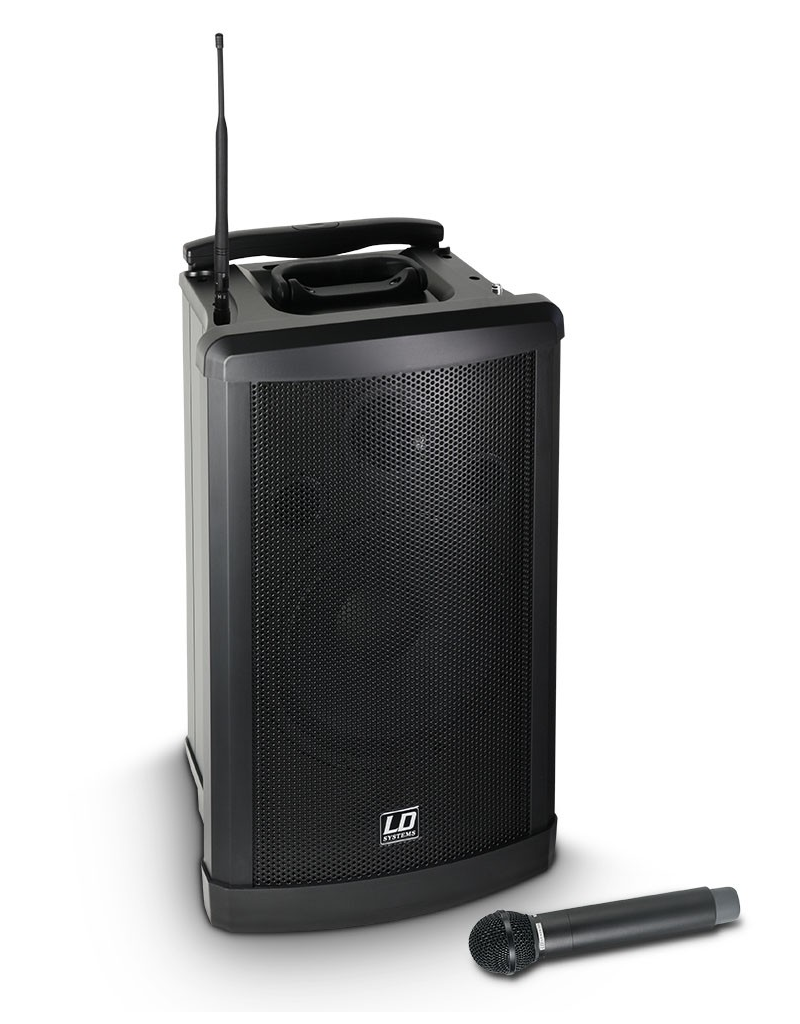 LD Systems Roadman 102 portable sound system with integrated battery