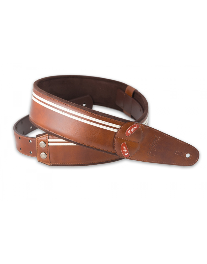 RightOn! Race brown guitar strap