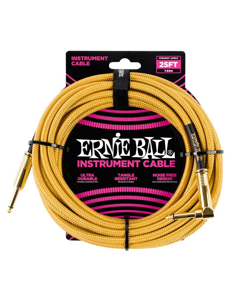 Ernie Ball 6070 Instrument kabel 7.6 m goud