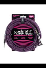Ernie Ball 6068 Instrument kabel 7.6 m zwart/paars