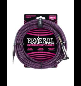 Ernie Ball Instrument cable 7.6 m (25FT) black/purple