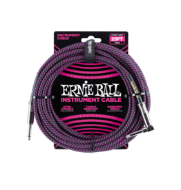 Ernie Ball Instrument kabel 7.6 m zwart/paars
