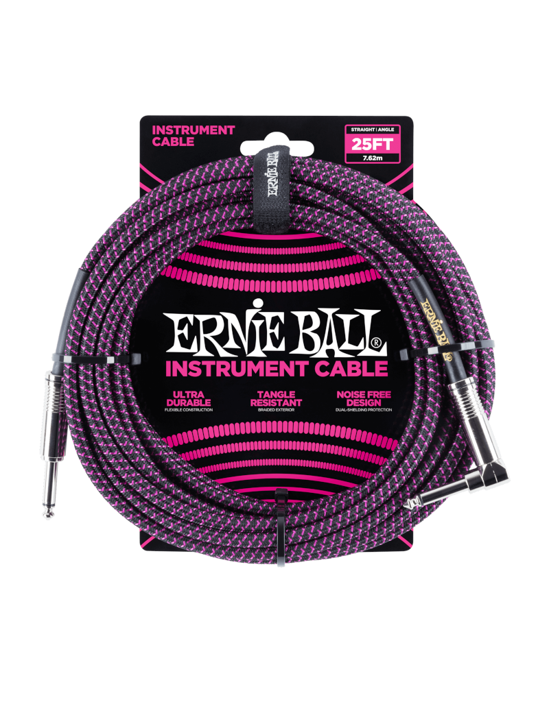 Ernie Ball 6068 Instrument cable 7.6 m (25FT) black/purple