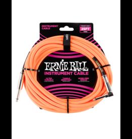 Ernie Ball Instrument kabel 7.6 m oranje