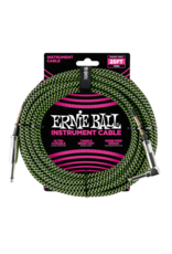 Ernie Ball 6066 Instrument cable 7.6 m (25FT) black/green