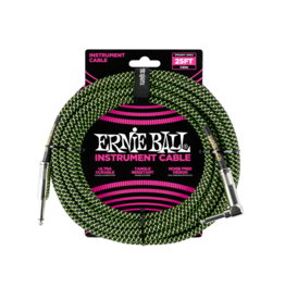 Ernie Ball Instrument cable 7.6 m (25FT) black/green