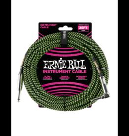 Ernie Ball Instrument kabel 7.6 m zwart/groen