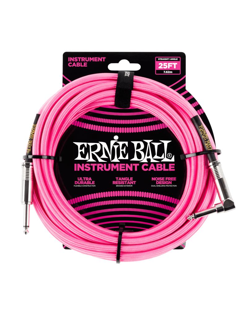 Ernie Ball 6065 Instrument kabel 7.6 m roze