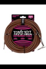 Ernie Ball 6064 Instrument cable 7.6 m (25FT) black/orange