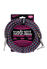Ernie Ball 6063 Instrument cable 7.6 m (25FT) black/blue/white/red
