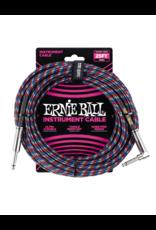 Ernie Ball 6063 Instrument kabel 7.6 m zwart/blauw/wit/rood