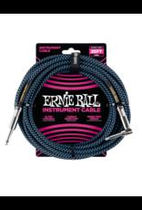 Ernie Ball 6060 Instrument kabel 7.6 m zwart/blauw