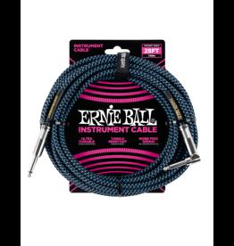 Ernie Ball Instrument kabel 7.6 m zwart/blauw