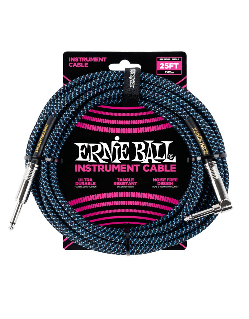 Ernie Ball 6060 Instrument cable 7.6 m (25FT) black/blue
