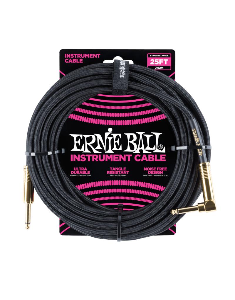 Ernie Ball 6058 Instrument kabel 7.6 m zwart