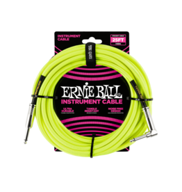 Ernie Ball Instrument cable 7.6 m (25FT) yellow